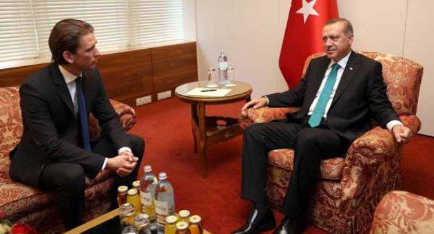 Erdoğan, Sebastian Kurz ile Yüz Yüze Görüştüler